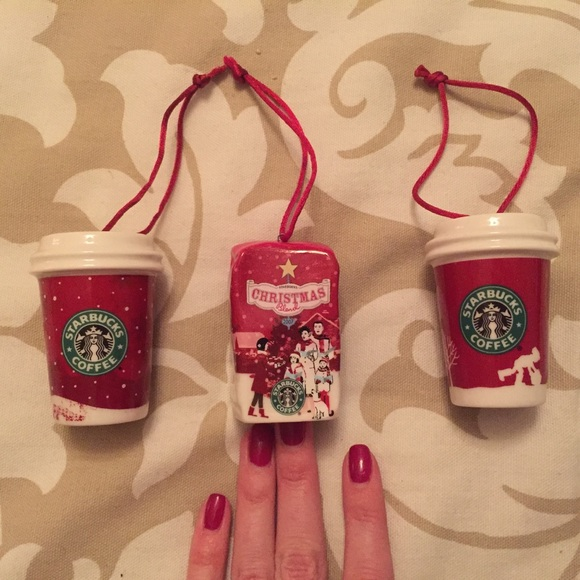 Coffee Christmas Tree Ornaments.Starbucks Coffee Christmas Tree Ornament Lot